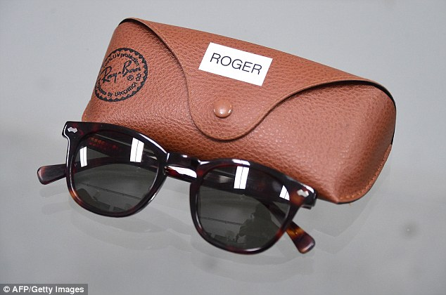 The vintage Ray Ban sunglasses worn by character Roger Sterling, whose father founded the ad agency