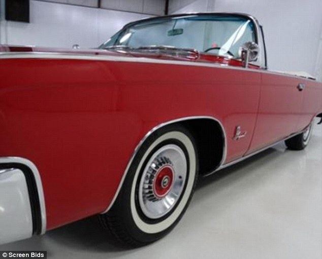 The largest item up for sale is a 1965 red Imperial Crown Chrysler, which was driven by lead character Don Draper