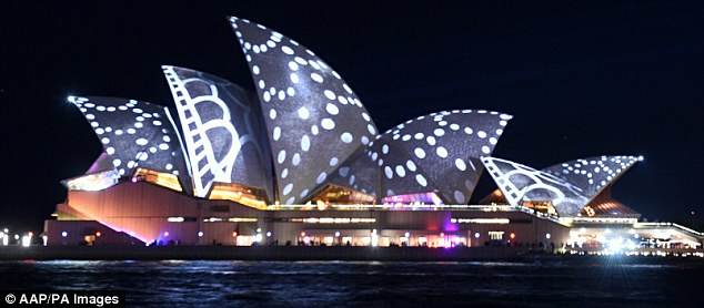 The Be the Light for the Wild display will be hosted at Sydney's Taronga Zoo as part of the Vivid festival across from the Opera House and Harbour Bridge that sit along Circular Quay