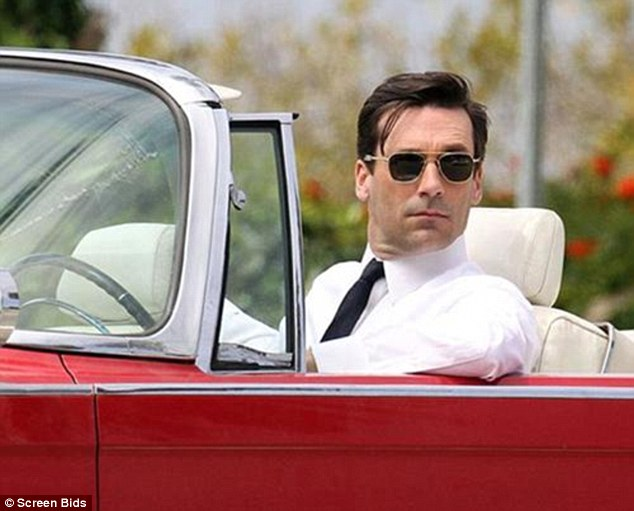 Draper played by John Hamm in the car. The auction house have not revealed a price for the car but it has been estimated to be  $39,500