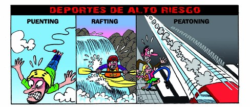 puenting, rafting, peatoning, peatones, mercado de dinero españa, MD España, humor, Asier