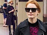 153180, EXCLUSIVE: Jessica Chastain wears a black Burberry trench coat and carries a Givenchy Horizon satchel bag while taking subway ride as she runs errands. New York City, New York - Friday June 03, 2016.  Photograph: © Liam Goodner, PacificCoastNews. Los Angeles Office: +1 310.822.0419 UK Office: +44 (0) 20 7421 6000 sales@pacificcoastnews.com FEE MUST BE AGREED PRIOR TO USAGE