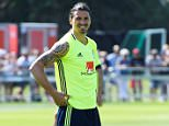 Sweden's Zlatan Ibrahimovic is pictured during a training, as the Swedish team ended their training camp for the upcoming Euro 2016 European football championships, in Bastad, Sweden, June 4, 2016. TT News Agency/Janerik Henriksson/via REUTERS ATTENTION EDITORS - THIS IMAGE WAS PROVIDED BY A THIRD PARTY. FOR EDITORIAL USE ONLY. SWEDEN OUT. NO COMMERCIAL OR EDITORIAL SALES IN SWEDEN. NO COMMERCIAL SALES.