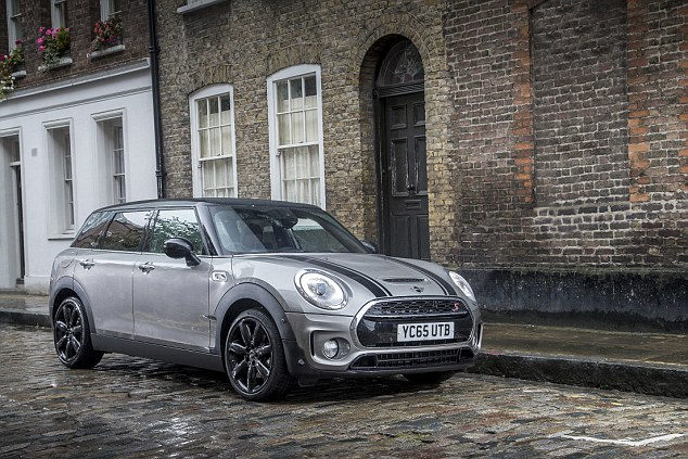 Saloon-door stunner: Chris Evans' pick of the family hatches (though arguably it doesn't have a hatchback boot door) is the Mini Clubman Cooper S