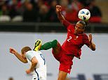 LONDON, ENGLAND - JUNE 02:  Bruno Alves of Portugal challenges Harry Kane of England leading to his sending off during the International Friendly match between England and Portugal at Wembley Stadium on June 2, 2016 in London, England.  (Photo by Christopher Lee - The FA/The FA via Getty Images)