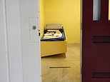 In this Feb. 6, 2016 photo, a detainee cell in Camp 6 is seen inside the U.S. detention center at Guantanamo Bay, Cuba. Running out of time and options to close the Guantanamo Bay detention center, the Obama administration is scrambling to release as many prisoners as it can and considering novel legal strategies that include allowing some men to strike plea deals by video-teleconference and sending others to foreign countries to be prosecuted.  (AP Photo/Ben Fox)