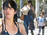 *** Fee of £150 applies for subscription clients to use images before 22.00 on 050616 ***\nEXCLUSIVE ALLROUNDERSelma Blair takes Arthur Bleick for ice cream and then picks up a model house\nFeaturing: Selma Blair, Arthur Bleick\nWhere: Los Angeles, California, United States\nWhen: 03 Jun 2016\nCredit: WENN.com