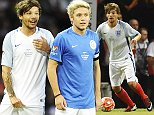 Mandatory Credit: Photo by David Fisher/REX/Shutterstock (5706126fh)\nLouis Tomlinson\nSoccer Aid UNICEF charity football match, Old Trafford, Manchester, Britain - 05 Jun 2016\nEvery two years, Soccer Aid brings together two teams of celebrities and football legends from England and the Rest of the World for the biggest charity celebrity football match in the calendar. \n