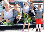 Picture Shows: Gwen Stefani, Apollo Rossdale, Kingston Rossdale  June 05, 2016\n \n Busy mom Gwen Stefani is seen at church with her kids in Los Angeles, California. Gwen had her hands full with her two of her three sons, Kingston and Apollo. \n \n Non Exclusive\n UK RIGHTS ONLY\n \n Pictures by : FameFlynet UK © 2016\n Tel : +44 (0)20 3551 5049\n Email : info@fameflynet.uk.com