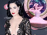 "PARIS, FRANCE - MARCH 15:  Dita Von Teese attends the ""Dita Von Teese's Crazy Show"" opening night photocall at Le Crazy Horse on March 15, 2016 in Paris, France.  (Photo by Kristy Sparow/WireImage)"