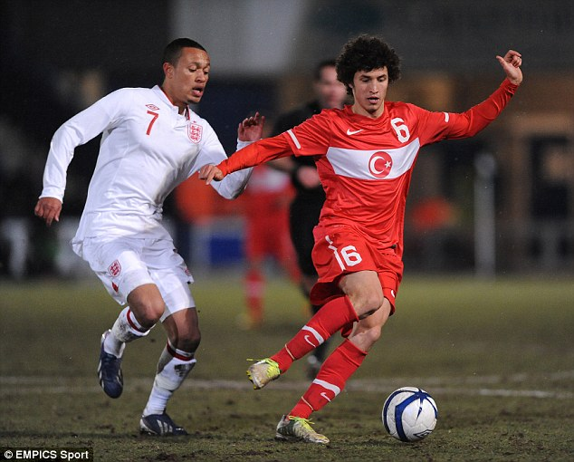 Blue star: Chelsea's Lewis Baker (left) will be at the heart of England's midfield
