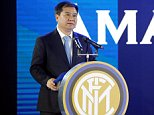 Suning's Chairman Zhang Jindong attends a news conference with Chinese retailer Suning and Italy's Inter Milan in Nanjing, Jiangsu Province, China June 6, 2016. REUTERS/Aly Song