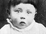 (Original Caption) This is a baby portrait of Adolf Hitler. Undated photograph.
