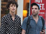 Mandatory Credit: Photo by Startraks Photo/REX/Shutterstock (5706308l) Miles McMillan, Zachary Quinto Zachary Quinto out and about, New York, America - 03 Jun 2016 Zachary Quinto leaving a restaurant with Joe Mantello after having dinner together and then waiting on a bench for boyfriend Miles McMillan