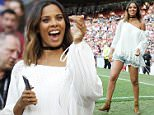 Mandatory Credit: Photo by Beretta/Sims/REX/Shutterstock (5706226q)\nRochelle Humes and Vicky Pattinson Soccer Aid\nSoccer Aid UNICEF charity football match, Old Trafford, Manchester, Britain - 05 Jun 2016\n