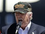 Republican presidential candidate Donald Trump speaks at a campaign rally at the Redding Municipal Airport Friday, June 3, 2016, in Redding, Calif. (AP Photo/Rich Pedroncelli