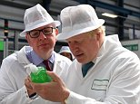 Image ©Licensed to i-Images Picture Agency. 06/06/2016. Stratford Upon Avon , United Kingdom. Boris Johnson Vote Leave Campaign. The former Mayor of London Boris Johnson is joined by Gisela Stuart, John Longworth and Michael Gove as they speak on the 'Risks of remain' during a visit to DCS Group,  Stratford-upon-Avon. Picture by Andrew Parsons / i-Images
