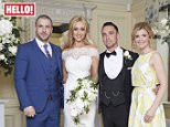 EMBARGOED TO 0001 MONDAY JUNE 6 THIS PICTURE MUST ONLY BE USED IN CONJUNCTION WITH THE FRONT COVER OF THIS WEEKS HELLO! MAGAZINE. NO SALES NO ARCHIVE. EDITORIAL USE ONLY. ONE USE ONLY Handout photo issued by Hello! of (left to right) Shayne Ward, Catherine Tyldesley, Tom Pitfield and Jane Danson as they appear in this week's edition of Hello! Magazine. PRESS ASSOCIATION Photo. Issue date: Monday June 6, 2016. Coronation Street's Catherine Tyldesley was serenaded on her wedding day by on screen Corrie boyfriend Shayne Ward. See PA story SHOWBIZ Tyldesley. Photo credit should read: Hello! Magazine/PA Wire  NOTE TO EDITORS: This handout photo may only be used in for editorial reporting purposes for the contemporaneous illustration of events, things or the people in the image or facts mentioned in the caption. Reuse of the picture may require further permission from the copyright holder.