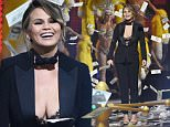 Chrissy Teigen speaks on stage at the Guys Choice Awards at Sony Pictures Studios on Saturday, June 4, 2016, in Culver City, Calif. (Photo by Chris Pizzello/Invision/AP)