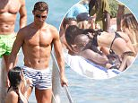 Non Exclusive Images: \nJune 3rd, 2016, Ibiza; Real Madrid soccer player Cristiano Ronaldo is seen taking a swim in Ibiza while taking some time off before Euro 2016 starts.