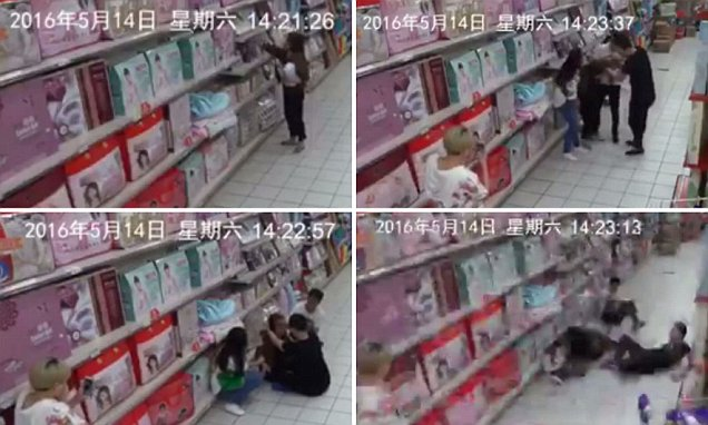 Video of 'possessed' Chinese woman in supermarket collapsing and screaming