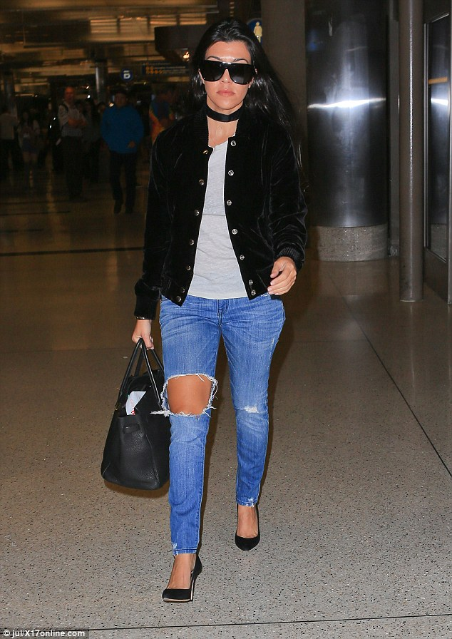 Jet-setter lifestyle:Kourtney Kardashian put her relationship dramas behind her as she prepared to jet off to London for the upcoming Glamour Women Of The Year Awards