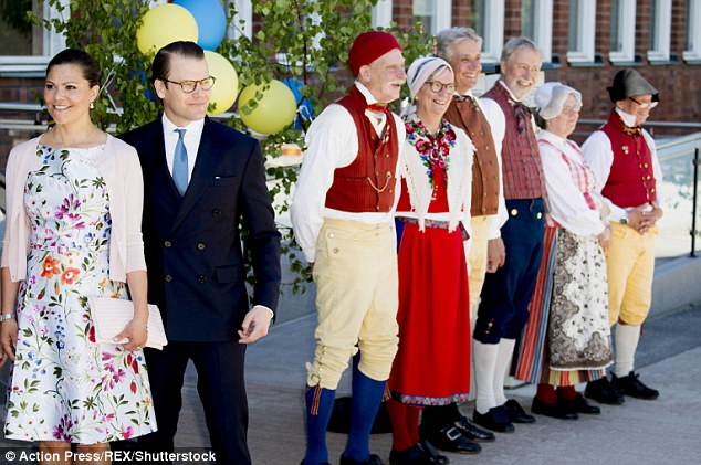 The royal couped attend a citizenship ceremony on Sweden's National Day at Nacka City Hall