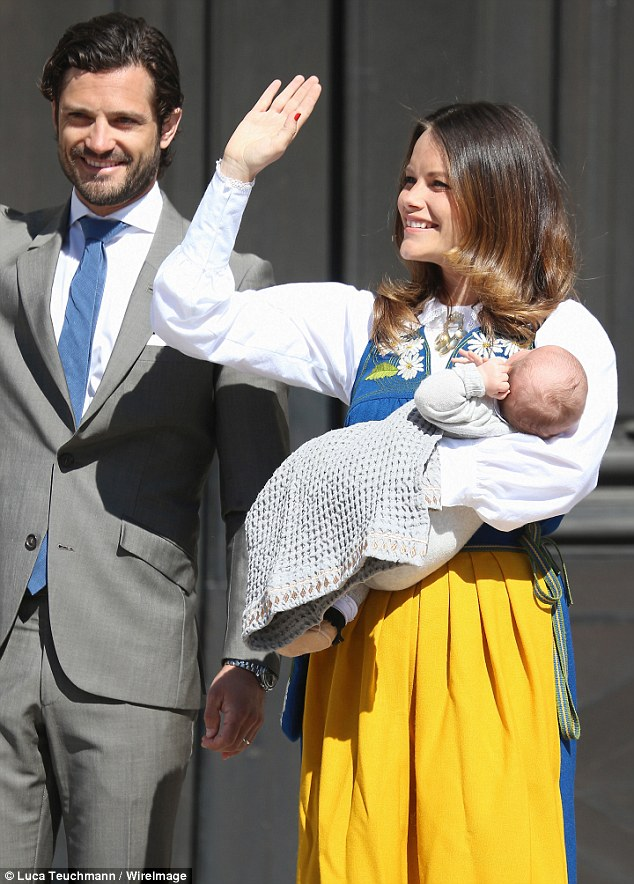 New mother Princess Sofia looked glowing as she attended National Day celebrations