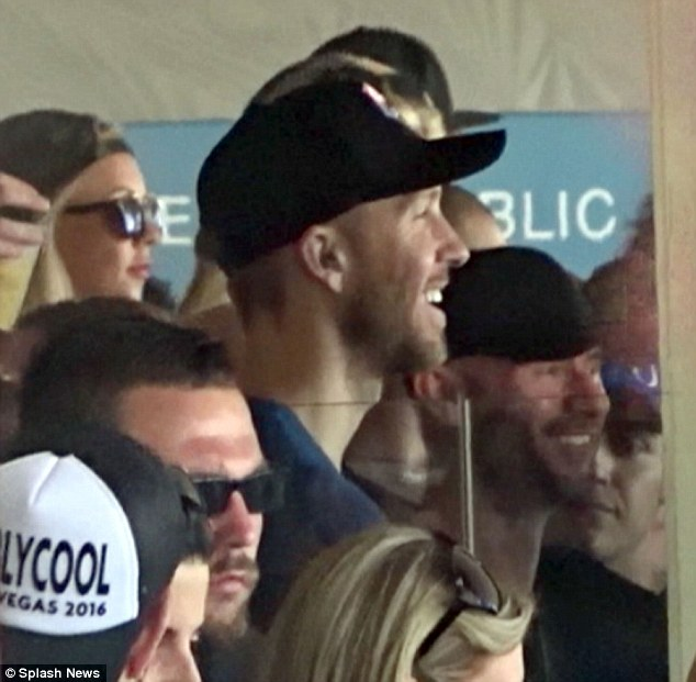 All smiles! Calvin Harris was happy to be back at work in Las Vegas Saturday during his first poolside DJ gig since splitting with Taylor Swift