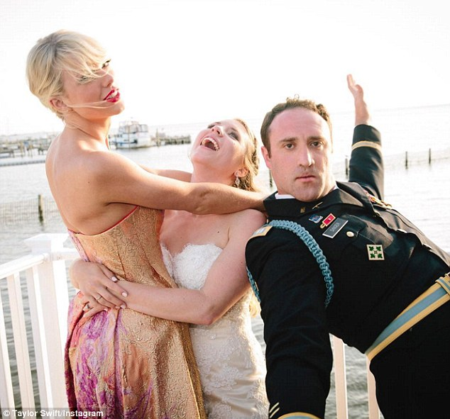 'Third wheel?' Meanwhile, the 10-time Grammy winner spent her Saturday performing Blank Space at the New Jersey wedding of her fans Max Singer and Kenya Smith