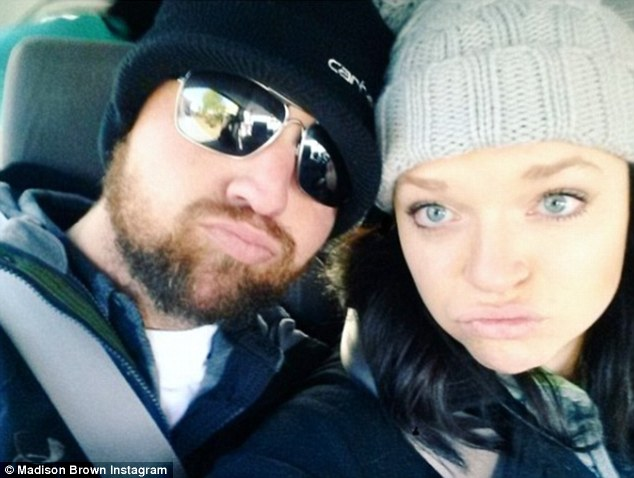 Counting down the days: The couple have shared their romance on social media, including this cute selfie from Monday, which Maddy captioned, 'Whatever our souls are made of, his and mine are the same. 4 days to go'