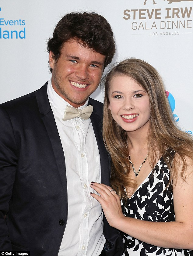 Smitten: The pair attended the Steve Irwin Gala Dinner at the JW Marriorr in Los Angeleslast month