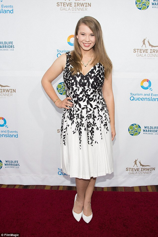 Picture perfect: The teen attended the event in a black and white a-line dress
