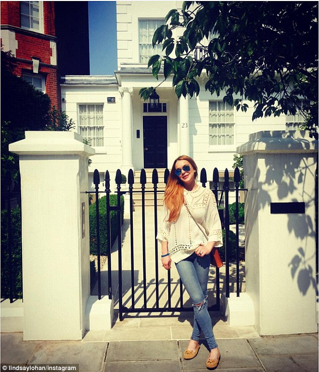 Home sweet home: Eighteen years since its premiere, Lindsay Lohan has returned to where it all began, sharing a sweet snapshot from a recent visit to The Parent Trap's London-based filming locale