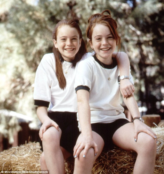 Double trouble: Lohan was only 11-years-old when she captured hearts as twins Hallie Parker and Annie James in Disney's The Parent Trap