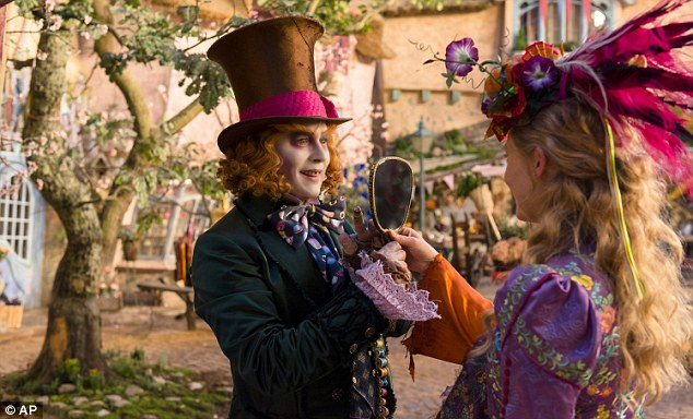 Losing its appeal: Disney's Alice Through The Looking Glass came in at No, 4 with $10.7 million in its second weekend, for a disappointing $50.7 million total