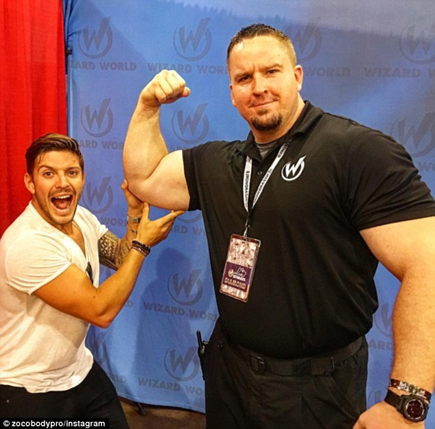 Strongman: Brian is a powerlifting champion from the states with arms that terrify