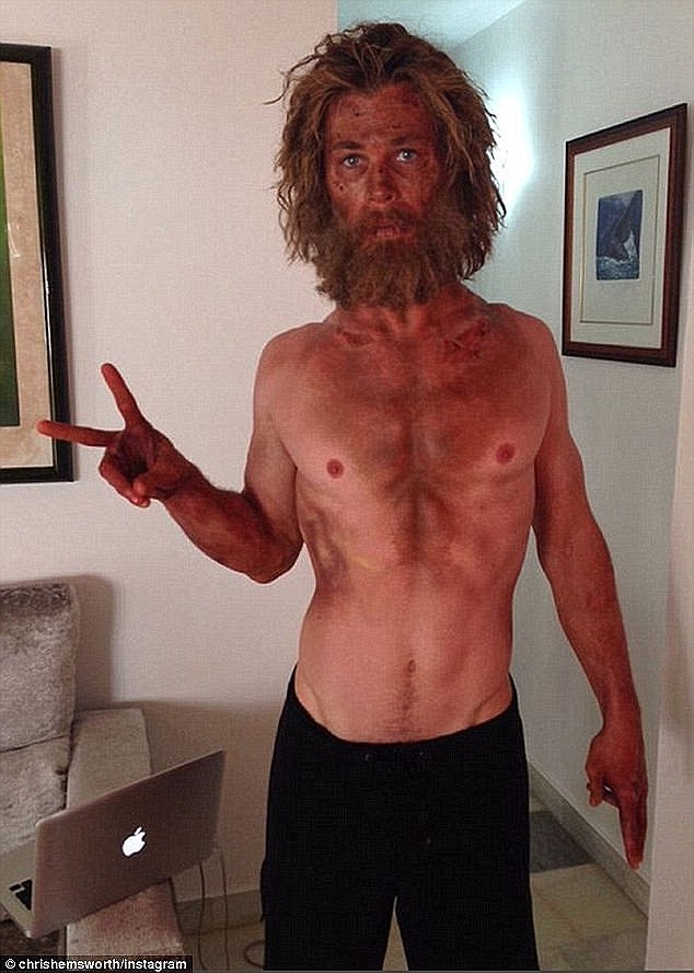 Unrecognisable: Last year he shed 33Ibs for movie Lost At Sea and lived on a restricted diet that consisted of barely more than one egg a day