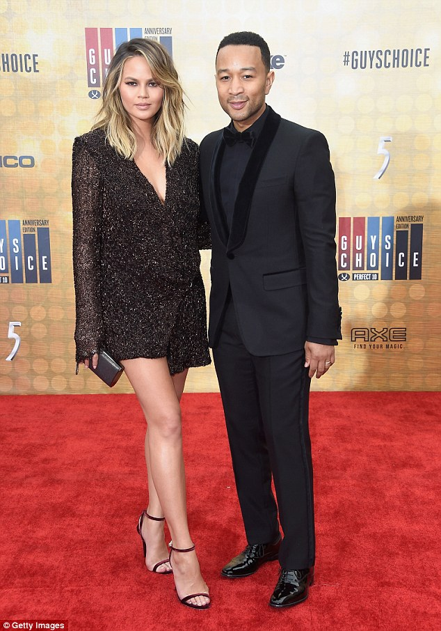 Parents night out! The model was joined by her dashing husband, John Legend