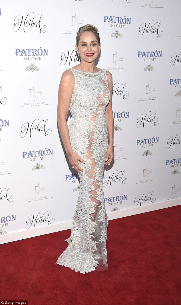 Philanthropic: Sharon Stone hosted the 5th annual Hotbed Benefit Gala presented by the Dever Family Foundation in Tiburon, California on Saturday evening
