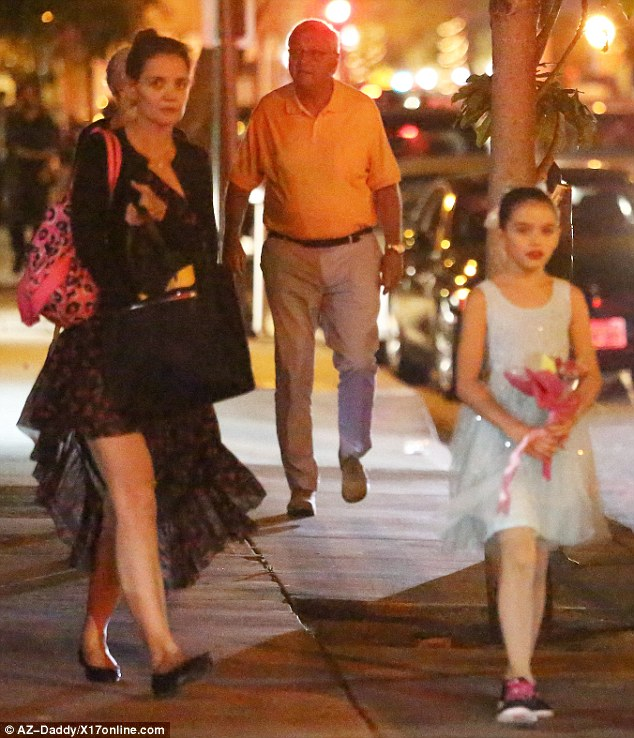 Daughter's dance! Katie Holmes, 37, attended her daughter, Suri's ballet recital on Saturday night