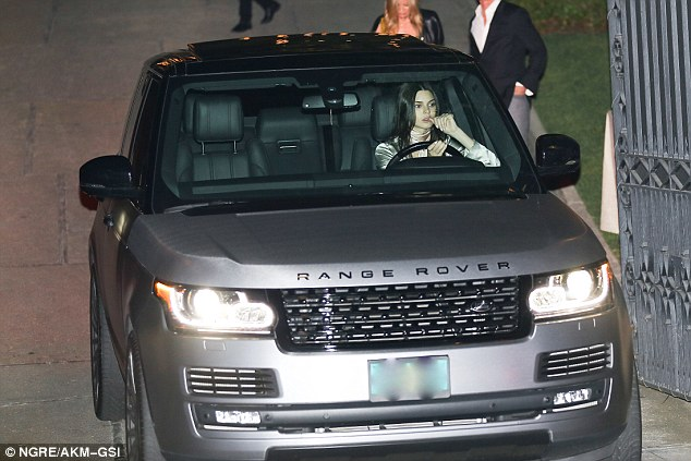Going with the flow: Jenner kept her eyes on the road ahead