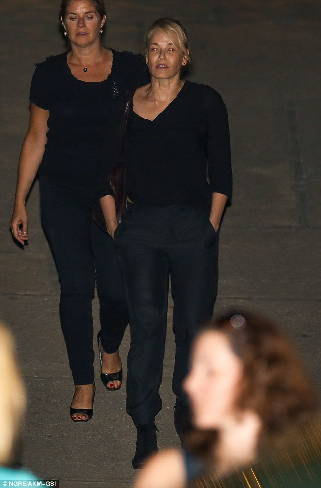 Look who's here! Chelsea Handler also also took part in the celebrations and wore all-black