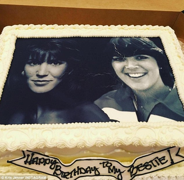 Personal touch: Jenner shared an image of Shelli's personalized birthday cake, which bore an image of both herself and the birthday girl