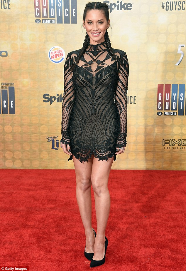 Highlight of the evening: Olivia Munn, 35, looked absolutely amazing as she walked the red carpet at the Guys Choice Awards in Culver City on Saturday