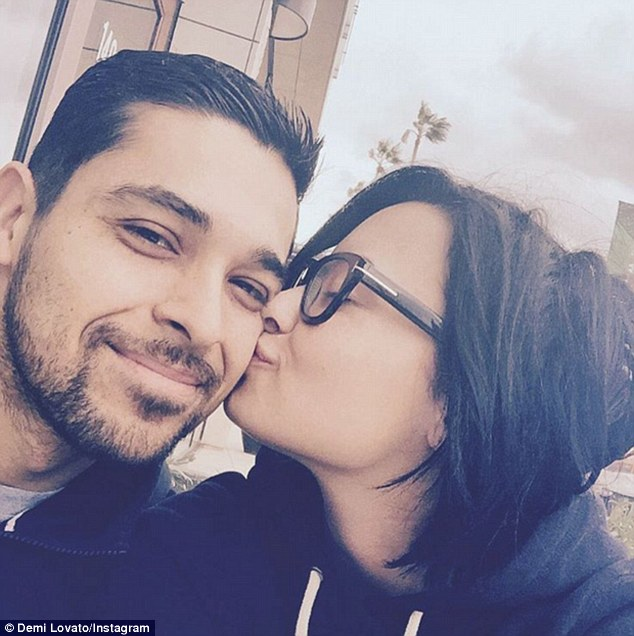 Cute couple: The loved-up pair often shared sweet selfies on Instagram
