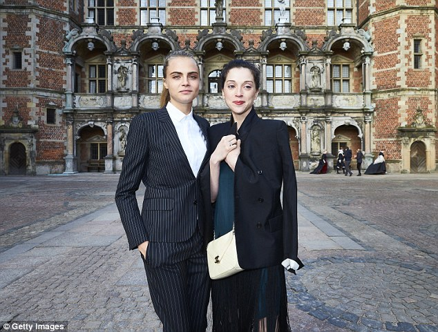 Staying close: The British-born model and her Grammy winning singer girlfriend, 33, started dating in March 2015; Cara and St. Vincent on March 19 in Hillerod, Denmark for the Jonathan Yeo portraits exhibition