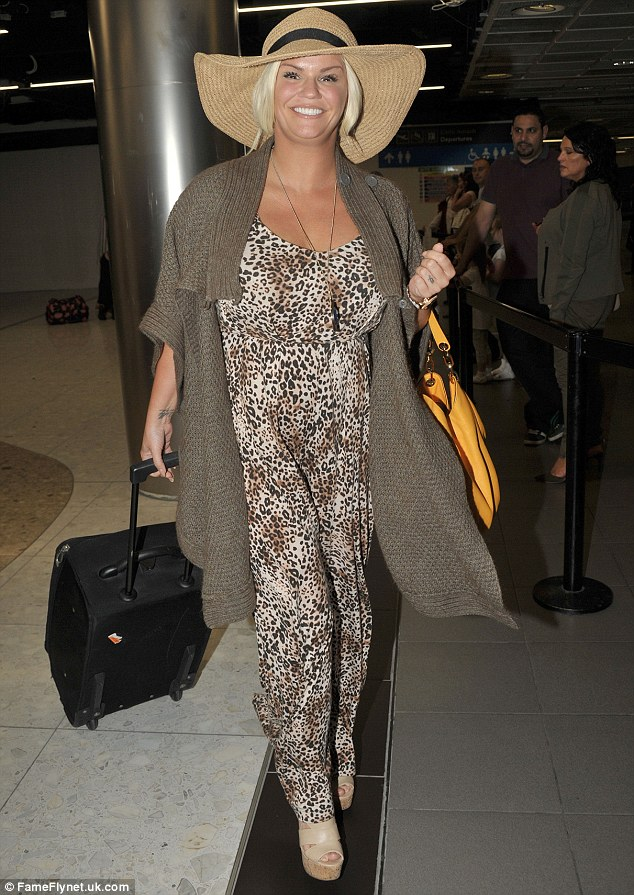 Ready for a wild time: It seems that Kerry Katona was ready for a weekend city break, as the star landed in Dublin over the weekend in a quirky ensemble