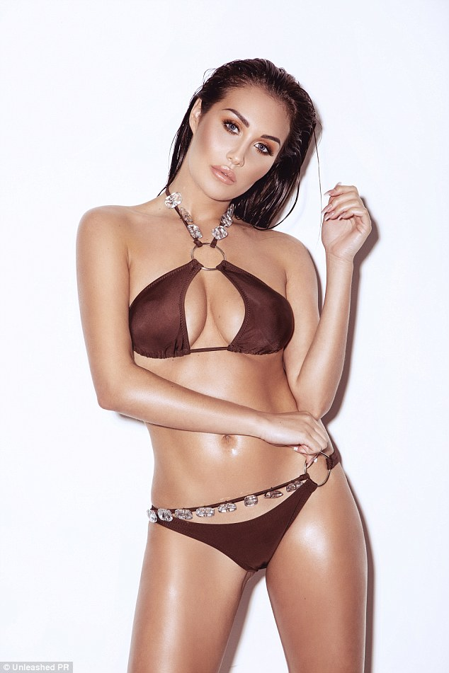 Cut it out: She's best known for her role on MTV show Ex On The Beach and Chloe Goodman modelled her favourite seaside attire in a very steamy photoshoot
