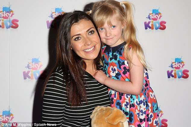 One big, happy family: The actress has two children from her relationship with Dave Cunliffe, David,21 and 19-year-old Emily, while she and ex-husband Jamie also have a five-year-old daughter, Polly (pictured)